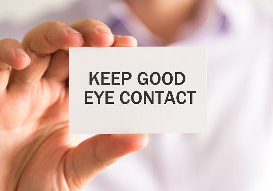 The lost art of eye contact. Your most powerful connector